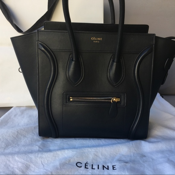 Celine Handbags - Céline Micro Luggage in Black